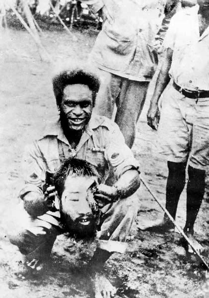 BEHEADED JAPANESE SOLDIER - Ctsy. Army Archives
