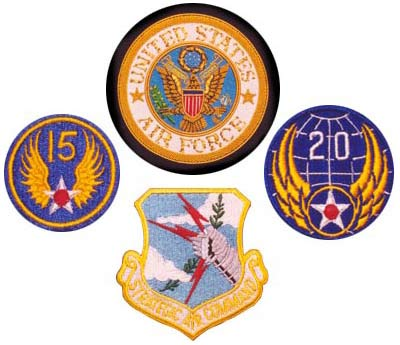 US Air Force Patches - SAC - 15th - 20th