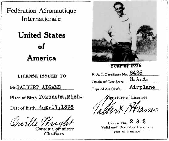 1895 : Talbert Abrams Born, Father of Aerial Photography